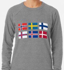 Skandinavische Flaggen Leichter Pullover