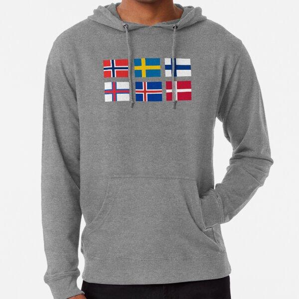 Scandinavian flags Lightweight Hoodie
