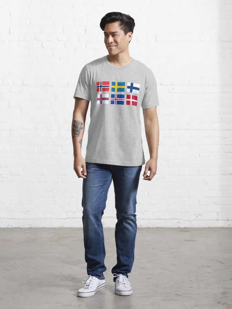 Alternate view of Scandinavian flags Essential T-Shirt