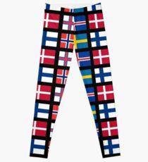Scandinavian flags Leggings