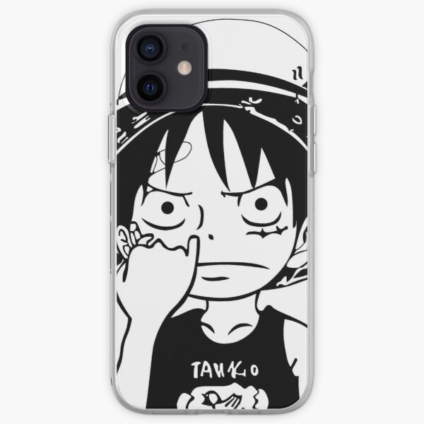 One Piece Luffy Picking Nose Coque souple iPhone