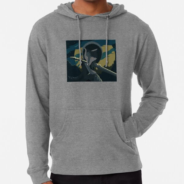 Sif, the Great Grey Wolf Lightweight Hoodie