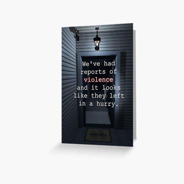 Phasmophobia: Haunted Housewarming Greeting Card