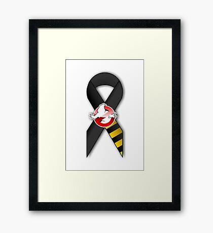 GB Tribute Ribbon Ver.2 (No Face) White Framed Print