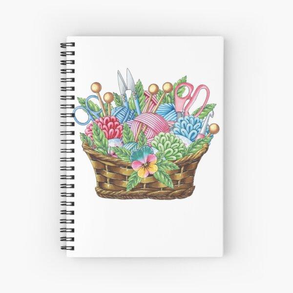 Knitting Basket Spiral Notebook