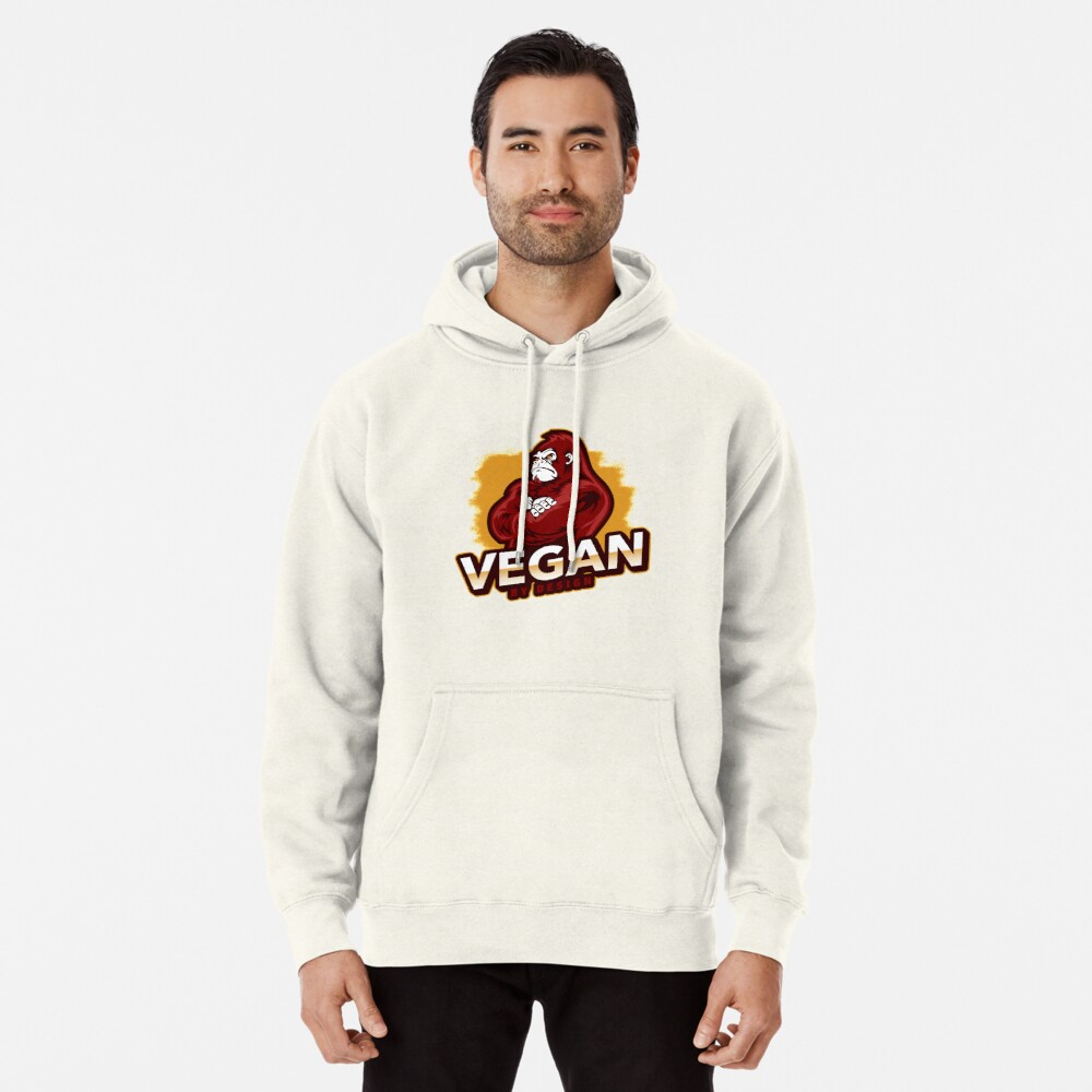 Vegan By Design Strong Gorilla Plant Based Protein Pullover Hoodie