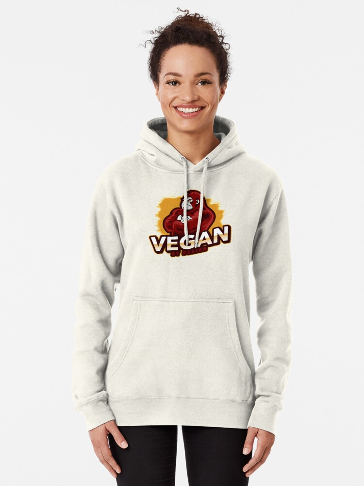 Alternate view of Vegan By Design Strong Gorilla Plant Based Protein Pullover Hoodie