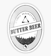 BUTTERBEER - Hogsmede Brew White Label  Sticker