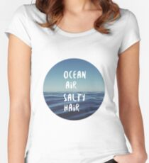 Ocean Air Salty Hair Women's Fitted Scoop T-Shirt