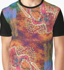 Orange Elephant Graphic T-Shirt