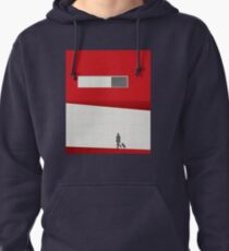 Funky Little Red Building Pullover Hoodie