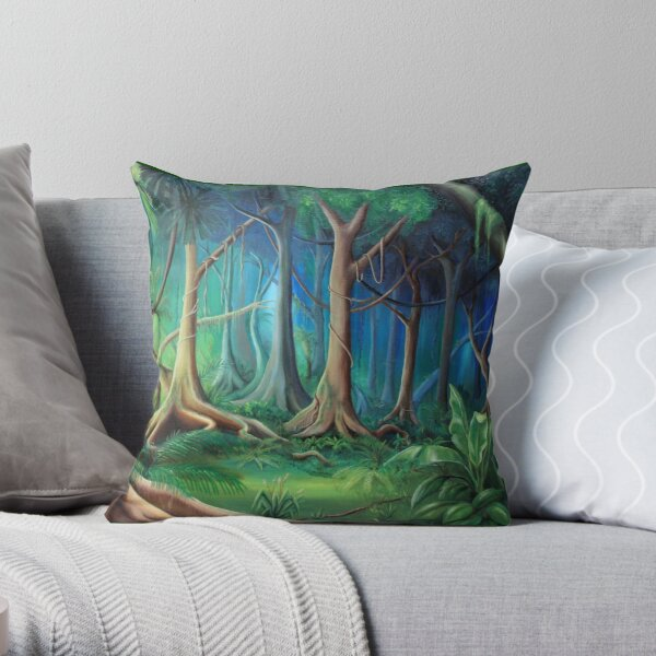NthQ Forest Throw Pillow