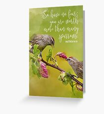 Matthew 10:31 Greeting Card