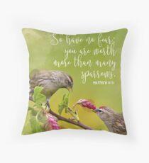 Matthew 10:31 Throw Pillow