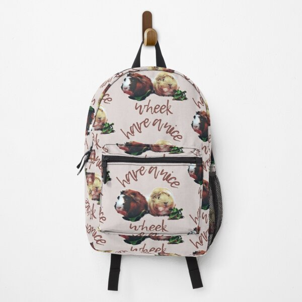 Have a nice wheek - two cute guinea pigs eating lettuce, perfect for guinea pig lovers, guinea pig mom, guinea pig dad Backpack