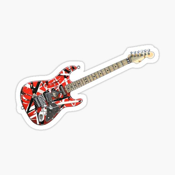 Frankenstrat Red Guitar Sticker