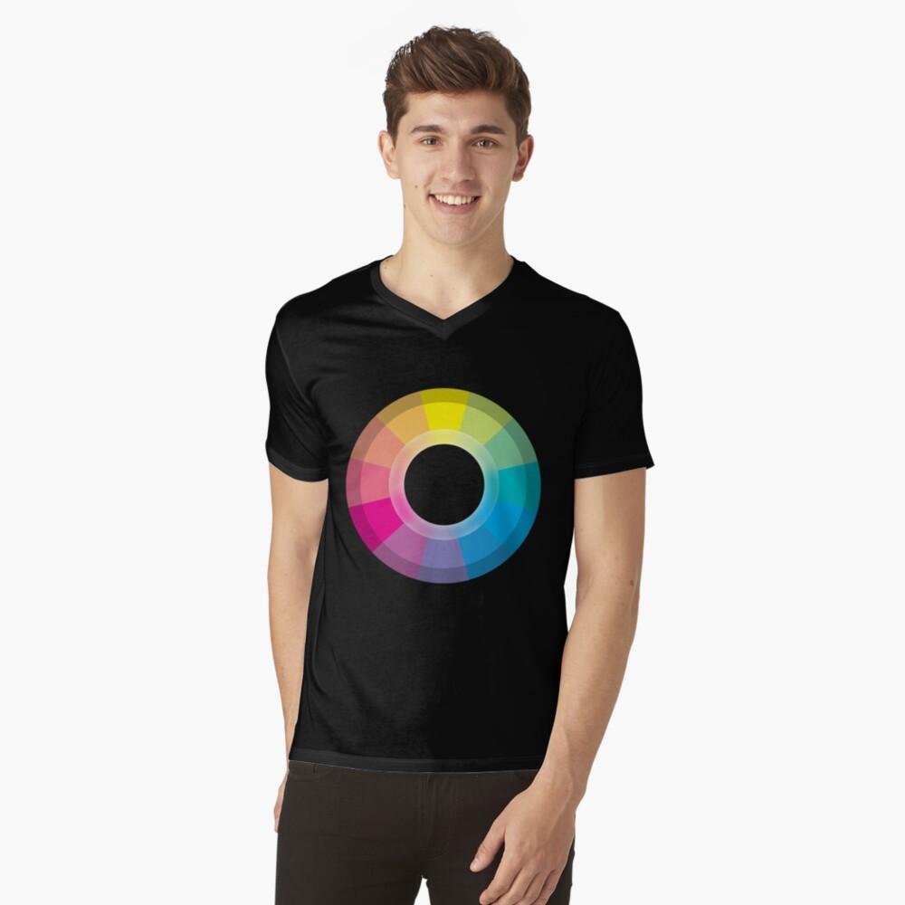 CMYK Wheel V-Neck T-Shirt