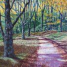 'AN AUTUMN WALK (AROUND BASS LAKE)'  by Jerry Kirk