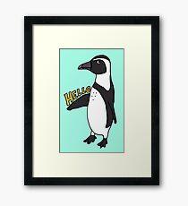 Hello African Penguin Framed Print