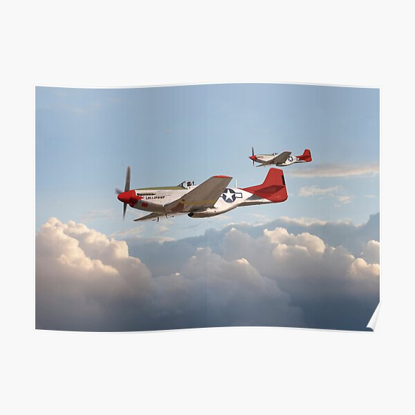 P51 Mustang - Red Tails Poster