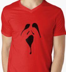 Spooky Face 2  Mens V-Neck T-Shirt