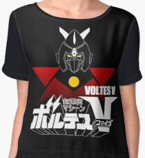 JAPAN CLASSIC RETRO ANIME ROBOT VOLTES V FIVE  Chiffon Top