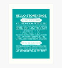 Doctor Who - The Pandorica Opens Typography Print Art Print