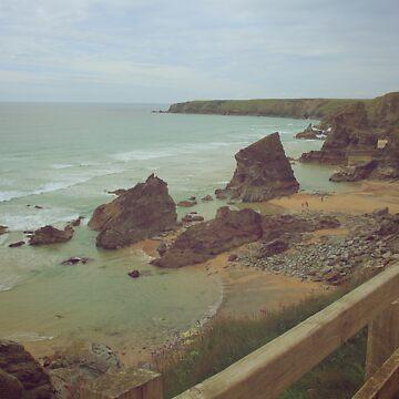 Cornish cliffs by Lemon-zombie