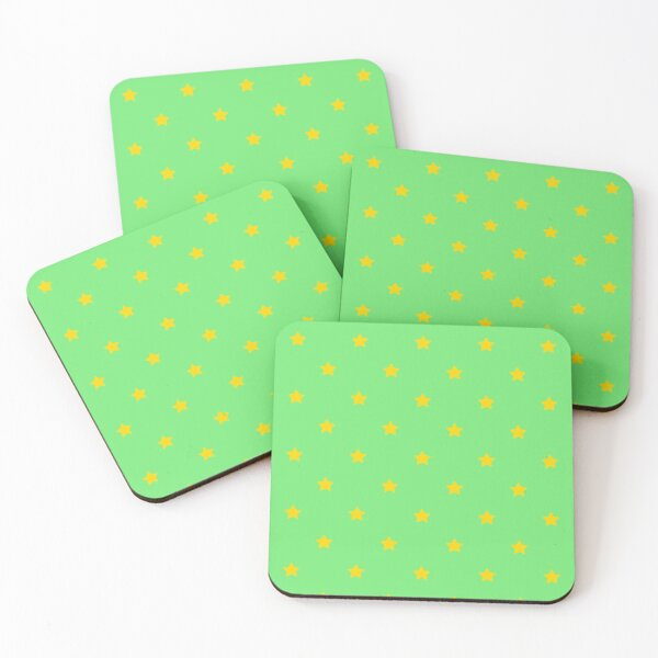Gold Stars Seamless Pattern Coasters (Set of 4)