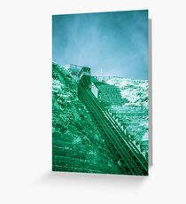 Infra-Red Cable Car Greeting Card