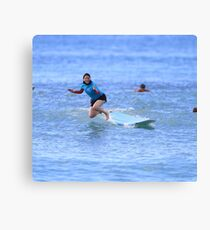 Surf Lesson Wipe Out Canvas Print