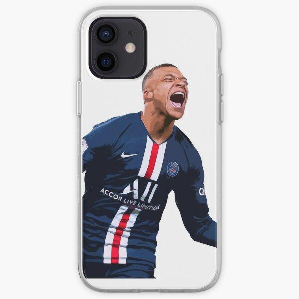 Peinture à l'huile de football Kylian Mbappe Coque souple iPhone