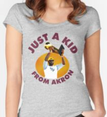 Just A Kid From Akron Women's Fitted Scoop T-Shirt