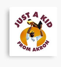 Just A Kid From Akron Canvas Print
