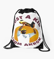 Just A Kid From Akron Drawstring Bag