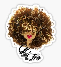 Go with the Fro Sticker