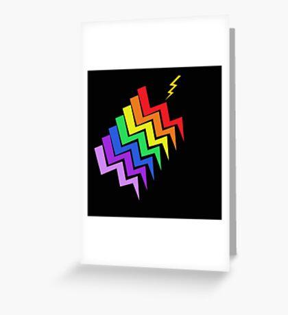 Struck By Rainbow Greeting Card
