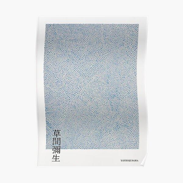 Yayoi Kusama Bleu Poster