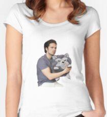 Sebastian Stan Women's Fitted Scoop T-Shirt