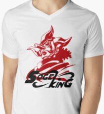 Camiseta para hombre de cuello en v Sogeking El Rey Sniper