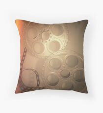 Cojín Grey Vintage Film Reel Pillow
