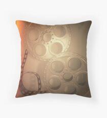 Cojín Grey Vintage Film Reel Pillow