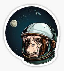 Space Monkey Astronaut Chimp Sticker
