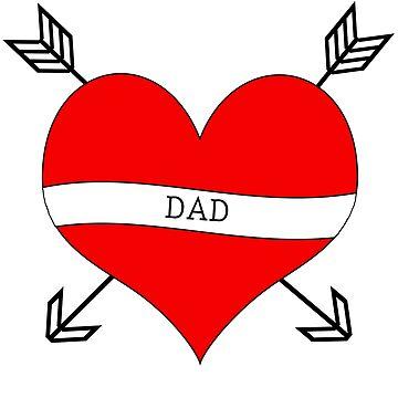 DAD Heart Tattoo by HaileyS