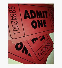 Vintage Admit One Film Ticket Poster (+card/prints) Photographic Print