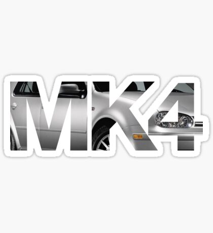 Golf mk 4 t shirt sticker