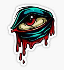 Bleeding Eye. Gothic, creepy and cool Sticker