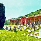 Fognano: cemetery with graves by Giuseppe Cocco