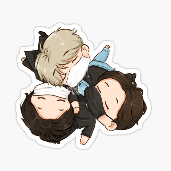Maknae Line Sleeping Sticker