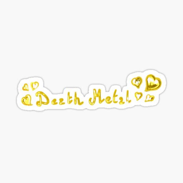 death metal (gold) Sticker